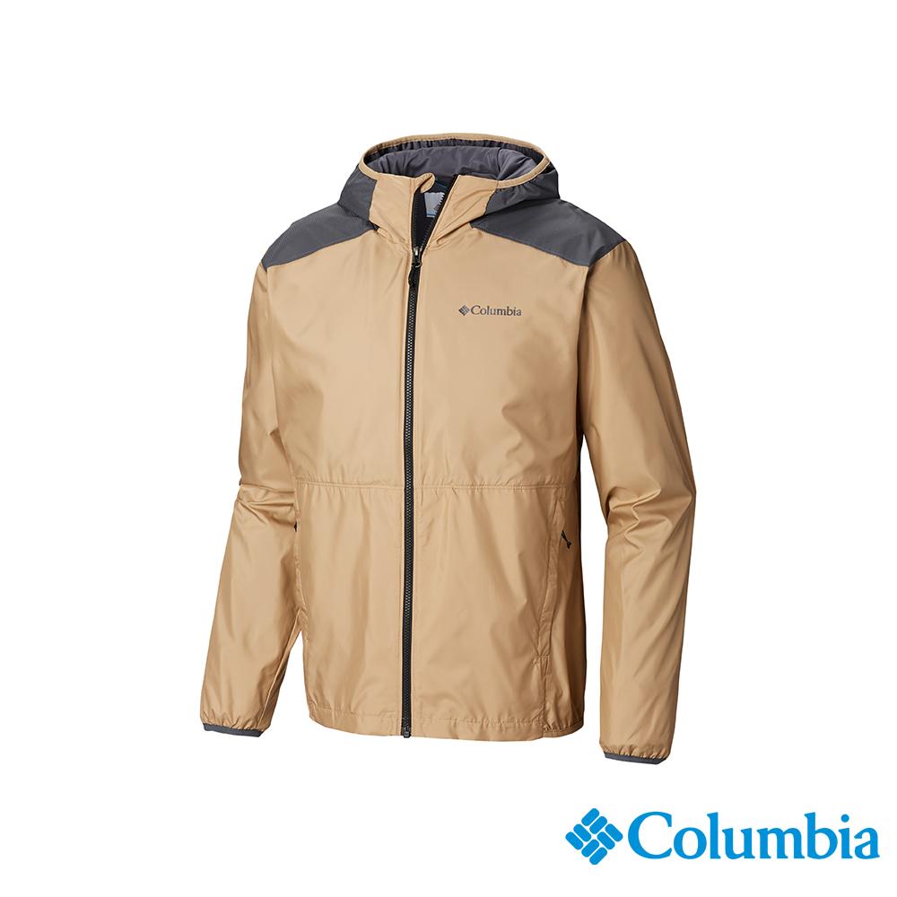 Columbia 哥倫比亞 男款- 防潑水風衣-卡其 UWE12890KI
