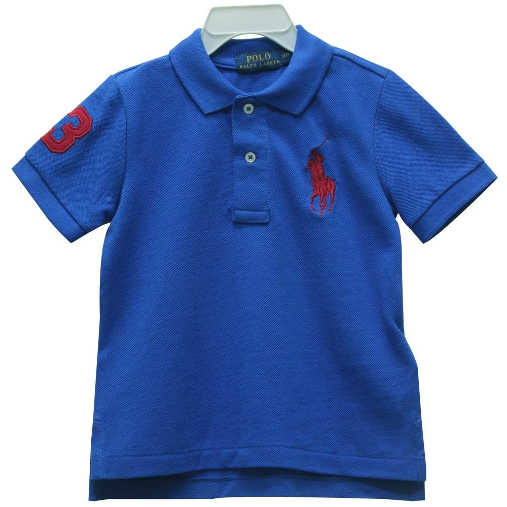 Ralph Lauren 童裝刺繡數字3經典大馬短袖POLO衫 product image 1