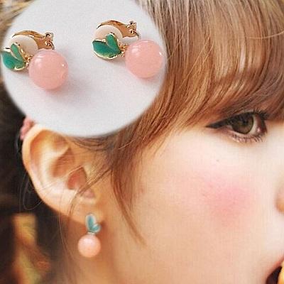 梨花HaNA 可愛俏皮感彩色耳環夾式
