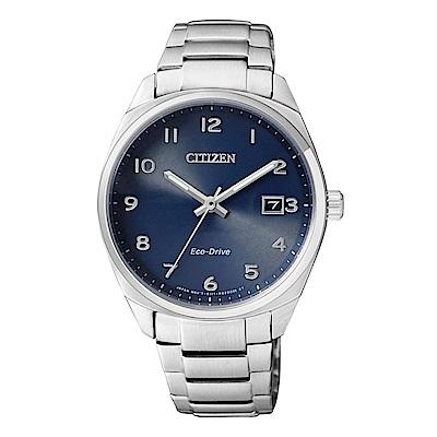 CITIZEN Eco-Drive 時尚簡約女錶(EO1170-51L) 藍/35mm