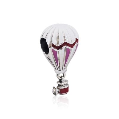 Pandora 潘朵拉 紅色熱氣球 垂墜純銀墜飾