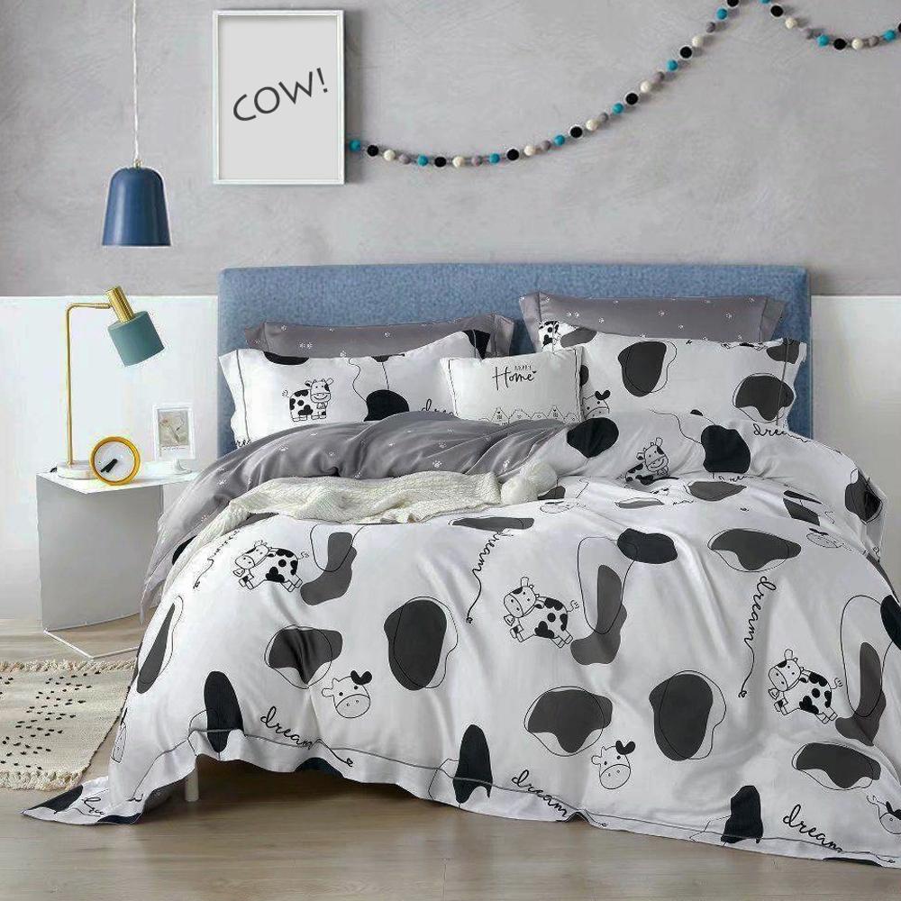 LAMINA 浪牛 雙人  100%萊賽爾天絲枕套床包組