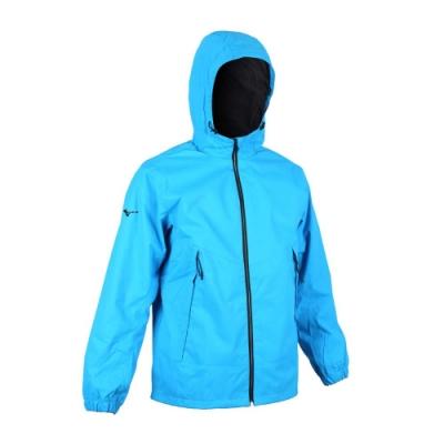 MIZUNO 男 防潑水保暖連帽外套 寶藍黑