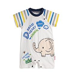 baby童衣 條紋插肩造型連體衣 90071