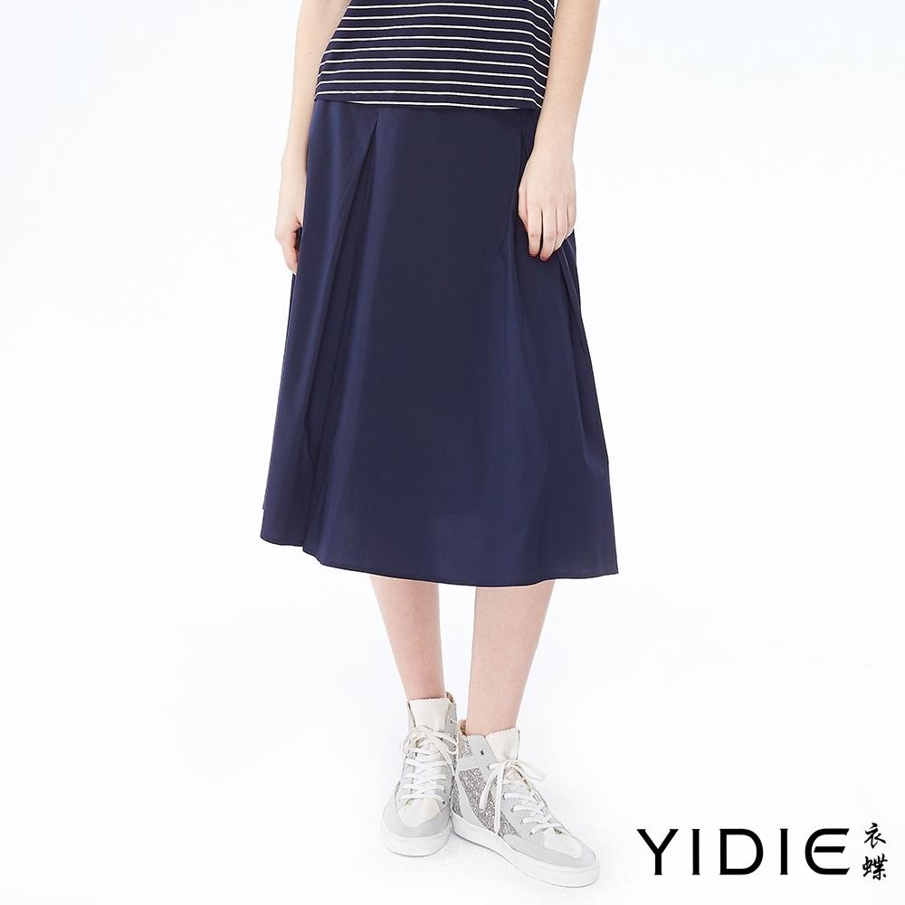 YIDIE衣蝶 率性運動織帶打摺裙