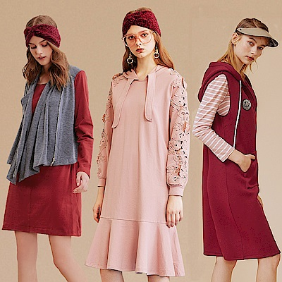 [時時樂限定] OUWEY歐薇 造型質感洋裝(3款任選)