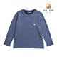 【hilltop山頂鳥】童款混羊毛刷毛保暖上衣H51C91憂鬱藍 product thumbnail 1