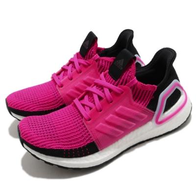 adidas 慢跑鞋 UltraBoost 19 襪套式 女鞋 海外限定 愛迪達 緩震 流行款 穿搭 粉 黑 G27485