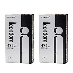 FUJI-NEO ICONDOM 艾康頓 動感激點 衛生套 保險套 12入/盒x2盒