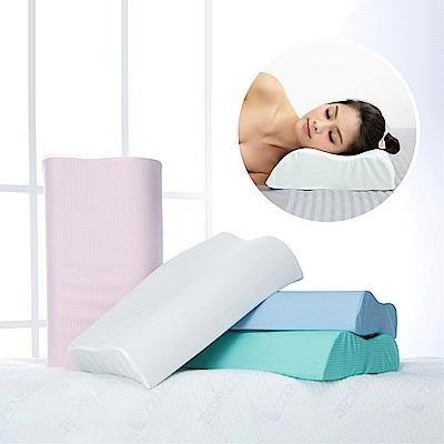 (買一送一)1/3 A LIFE 舒眠減壓護頸記憶枕-56cm(馬卡龍4色)
