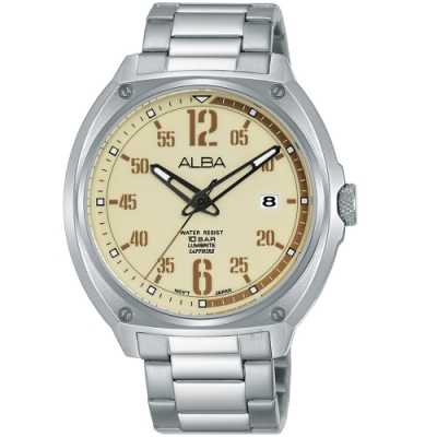 ALBA雅柏潮流運動手錶(AS9J63X1)-銀