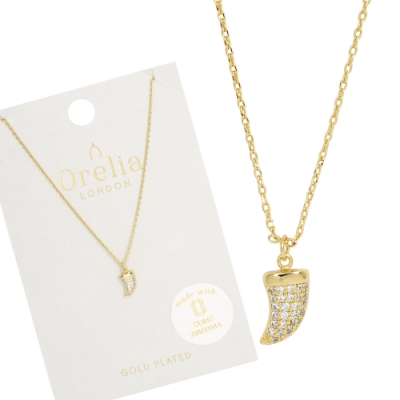 Orelia英國品牌 水晶象牙墜飾金色項鍊
