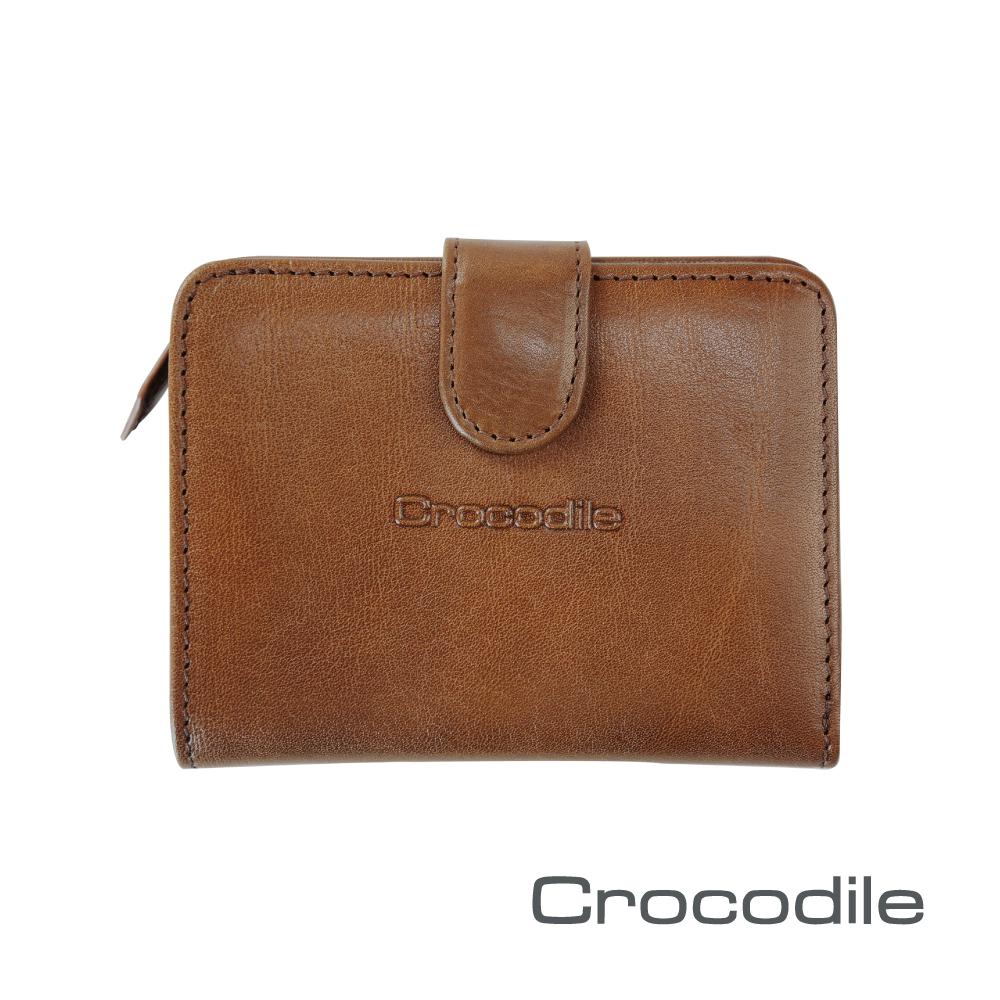Crocodile Naturale系列拉鍊袋短夾 0116-13002-02