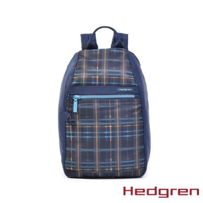 【Hedgren】INNER CITY旅行防盜 後背包-格紋藍