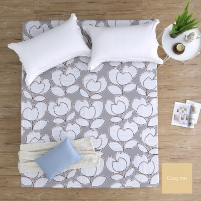 Cozy inn 花趣-200織精梳棉床包(特大)