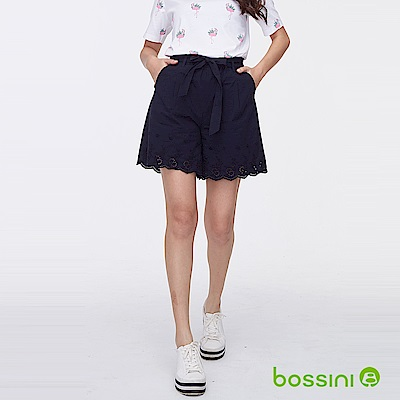 bossini女裝-時尚短褲02深藍色