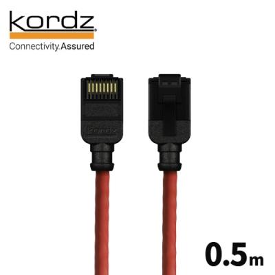 Kordz PRO CAT6 28AWG極細高速網路線 / 紅色 0.5 米