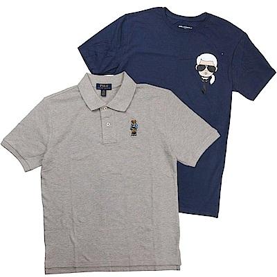 [時時樂]Ralph Lauren短袖Polo衫 & Karl卡爾老佛爺短袖T