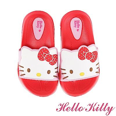 HelloKitty 輕量減壓吸震室內外拖鞋童鞋-紅