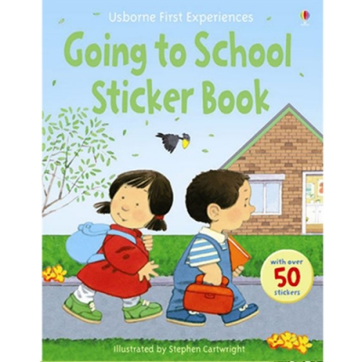 Going To School Sticker Book 故事貼紙書:上學第一天