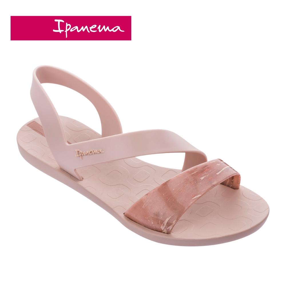 Ipanema VIBE 仿舊刷色環繞繫帶涼鞋-甜美粉