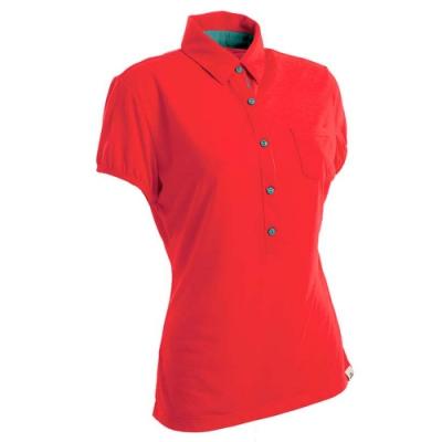 法國【EiDER】女排汗透氣短袖POLO衫/  EIT2651橘