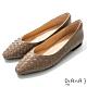 DIANA 1.7公分 莫蘭迪色調水染羊皮編織鞋面方尖頭跟鞋-細膩淑女 –可可棕 product thumbnail 1