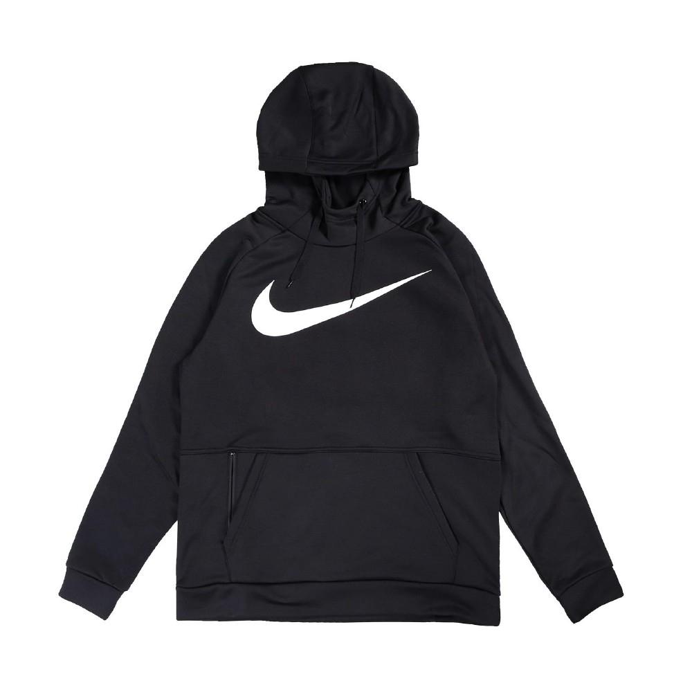 Nike 帽T Therma Hoodie 運動休閒 男款 基本款 連帽上衣 大勾勾 穿搭 刷毛 黑 白 CU6240010