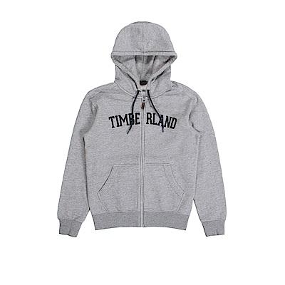 Timberland 男款中灰色拉鍊連帽運動衫 | A1LUJ052
