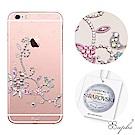 apbs iPhone6s/6 Plus 5.5吋施華洛世奇彩鑽手機殼-映雪情鳥