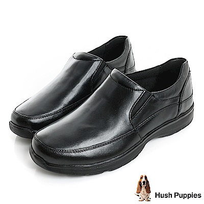 Hush Puppies ZeroG輕量大底直套式紳士便鞋-黑色