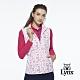 【Lynx Golf】女款防潑水內刷毛愛心印花可拆可調節式連帽無無袖背心-白色 product thumbnail 2
