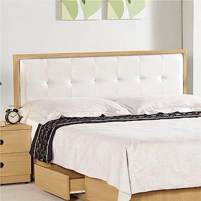 文創集 德斯丁時尚5尺皮革雙人床頭片(不含床底)-152.5x5x93.5cm免組