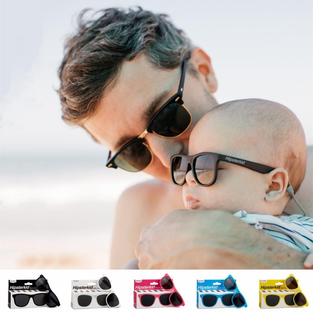 美國Hipsterkid 抗UV偏光時尚嬰幼兒童太陽眼鏡(附固定繩) - 多色
