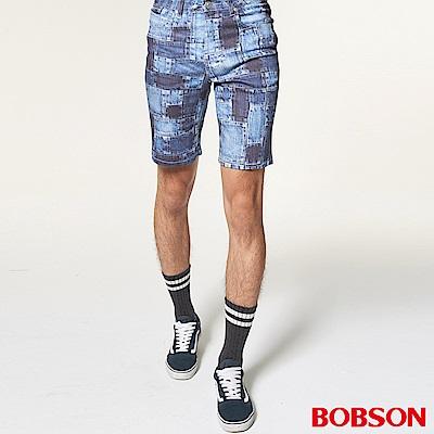 BOBSON 男款低腰吸濕速乾印花短褲