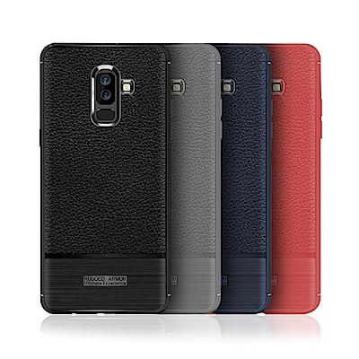 VXTRA 三星 Samsung Galaxy J8 防滑手感皮紋 軟性手機殼