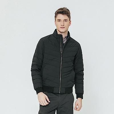 Hang Ten - 男裝 - 合身立領夾克外套 - 黑