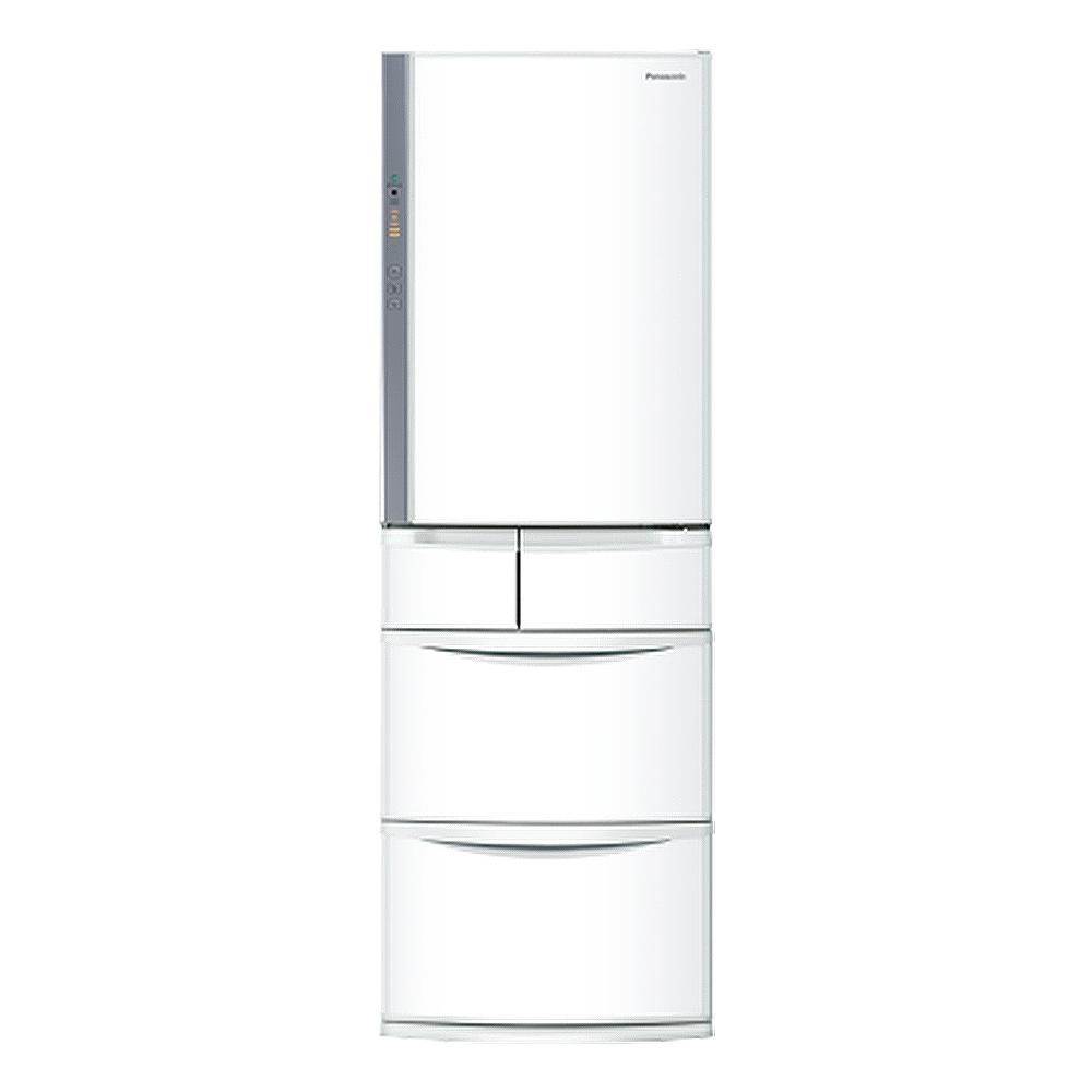 Panasonic國際牌411公升五門變頻冰箱NR-E414VT-W1晶鑽白