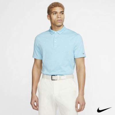 Nike Dri-FIT Player 男 印花短袖Polo衫 淺藍 CI9798-496