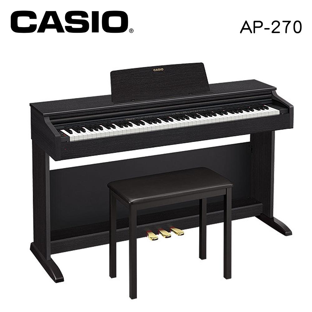 CASIO AP-270 BK 88鍵數位電鋼琴 經典黑色款