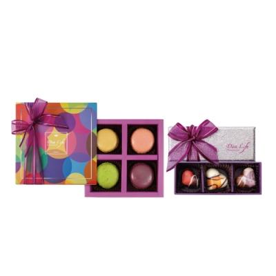 Diva Life 比利時馬卡龍4入+比利時巧克力3入(經典禮盒)