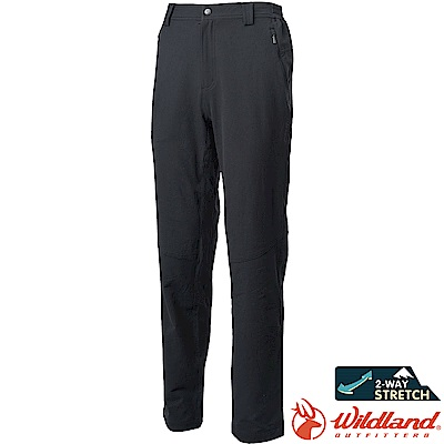 Wildland 荒野 0A62308-54黑色 男彈性保暖休閒長褲