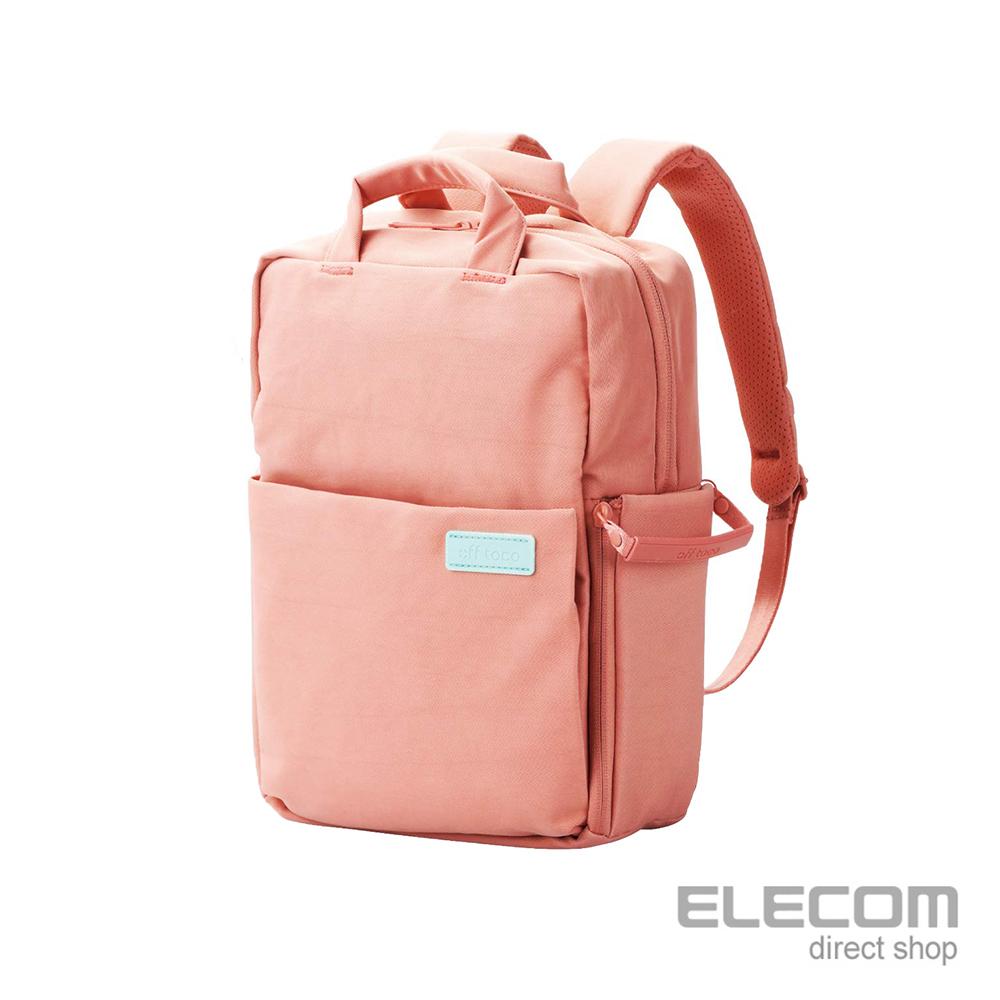 ELECOM 帆布3WAY薄型後背包OF05(限定色)-S粉紅