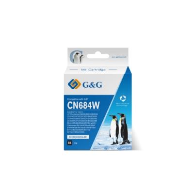 【G&G】for HP CN684WA/564XL 黑色高容量相容墨水匣 /適用Deskjet 3070a / 3520 / OfficeJet 4610 / 4620