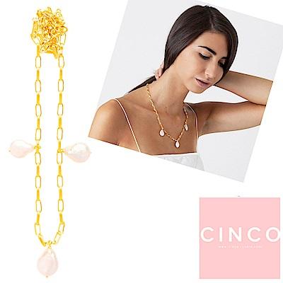 葡萄牙精品 CINCO Claire Necklace 925純銀鑲24K金 珍珠項鍊