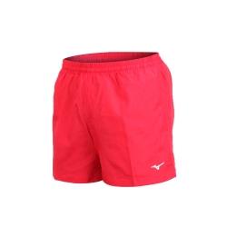 MIZUNO 男路跑短褲-慢跑 健身 訓練 三分褲 美津濃 紅白