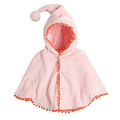 baby童衣 連帽斗篷 球球造型連帽披風外套 82027