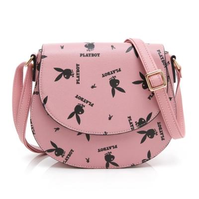 PLAYBOY-  馬鞍斜背包 Refresh活力兔系列 -粉色