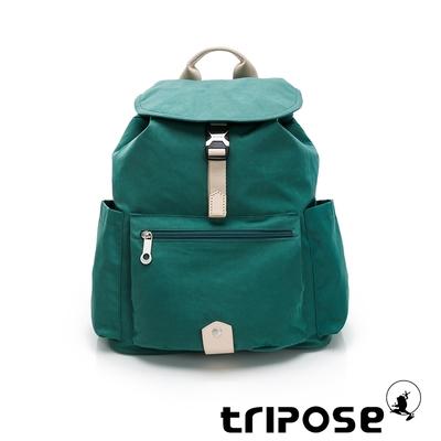 tripose MEMENTO微皺尼龍輕量後背包-大(森林綠)