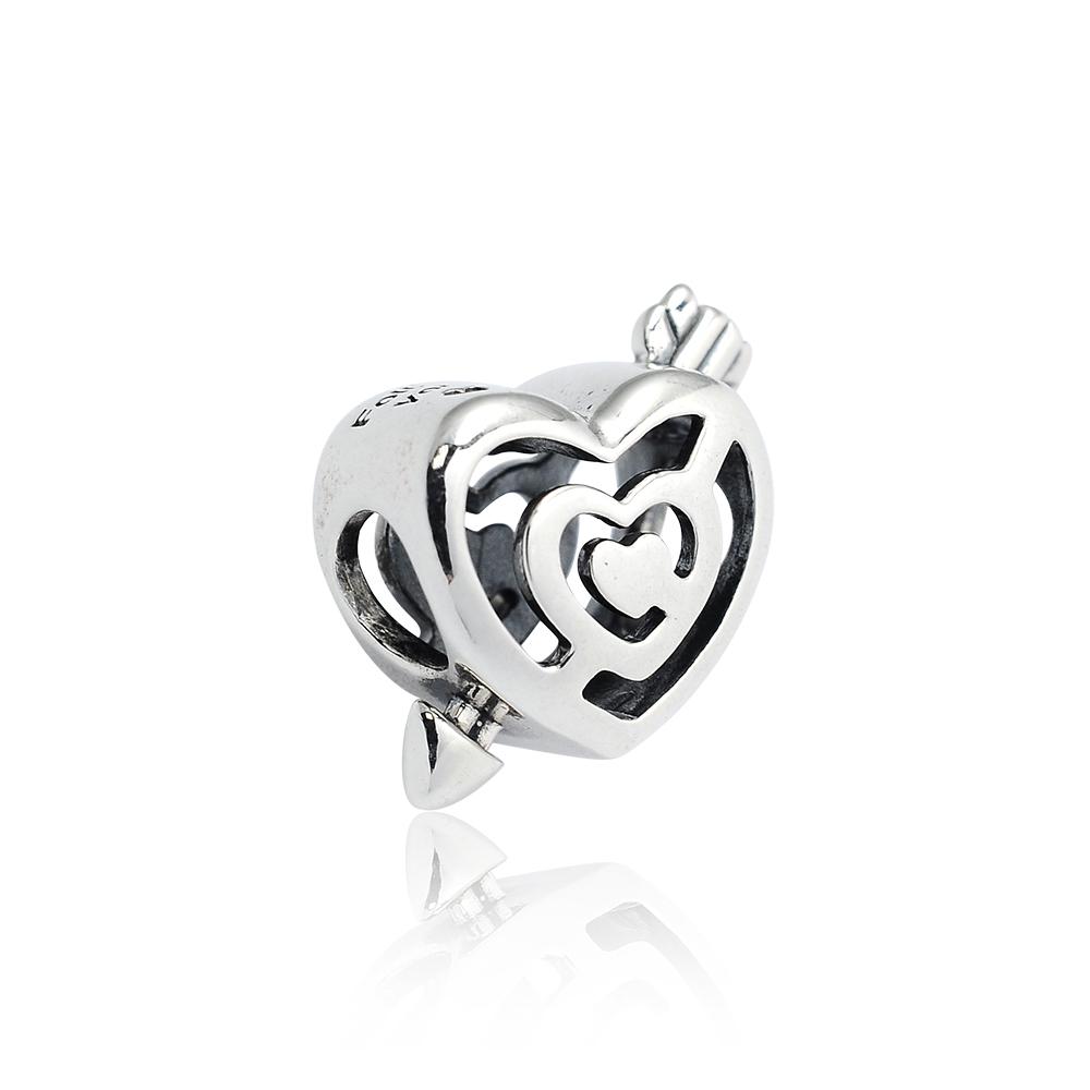 Pandora 潘朵拉 魅力愛心穿箭 純銀墜飾 串珠